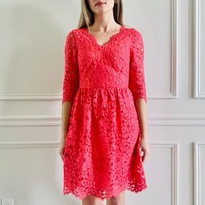 {ERIN} Coral Lace Dress